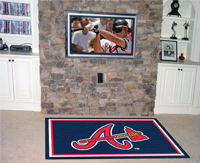 Atlanta Braves 4 Foot x 6 Foot Rug