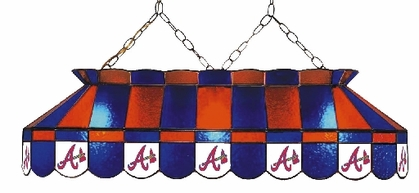 Atlanta Braves 40 Inch Rectangular Stained Glass Billiard Light