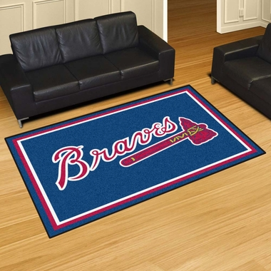 Atlanta Braves 5 Foot x 8 Foot Rug