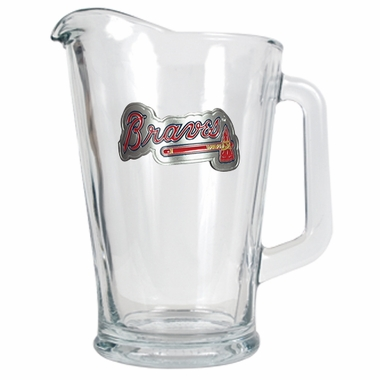 Atlanta Braves 60 oz Glass Pitcher