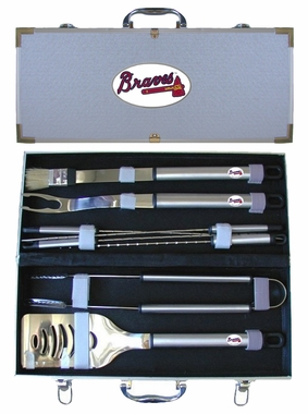 Atlanta Braves 8pc. BBQ Set w/Case