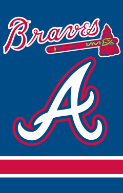 Atlanta Braves Applique Banner Flag