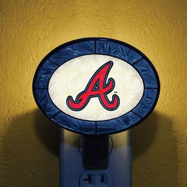 Atlanta Braves Art Glass Night Light