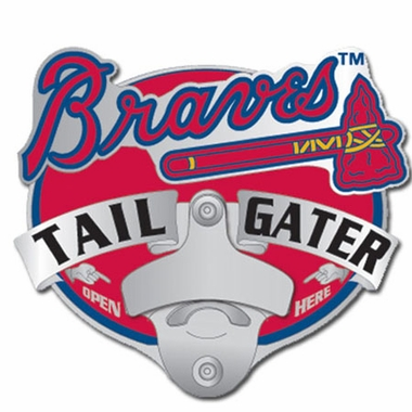 Atlanta Braves Bottle Opener Hitch Cover