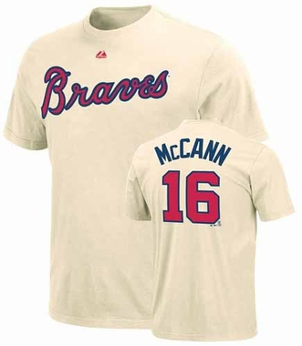 Atlanta Braves Brian McCann Name and Number T-Shirt (Alternate)