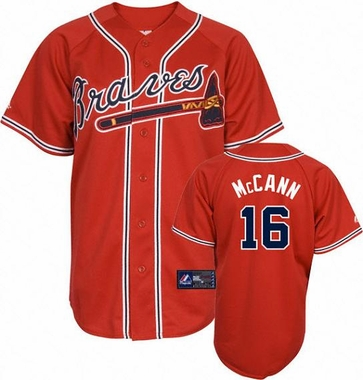 Atlanta Braves Brian McCann Replica Player Jersey (Alternate Red)