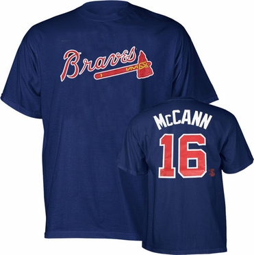 Atlanta Braves Brian McCann YOUTH Name and Number T-Shirt