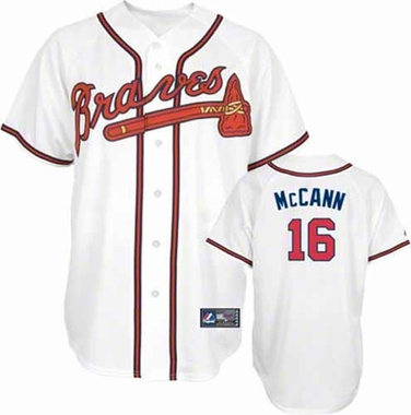 Atlanta Braves Brian McCann YOUTH Replica Jersey - White