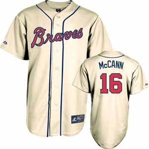 Atlanta Braves Brian McCann YOUTH Replica Player Jersey (Alternate) - Large