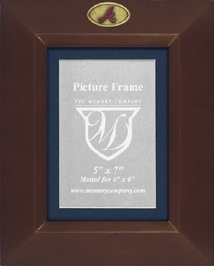 Atlanta Braves BROWN Portrait Picture Frame