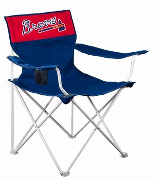 Atlanta Braves Canvas Adult Folding Logo Chair
