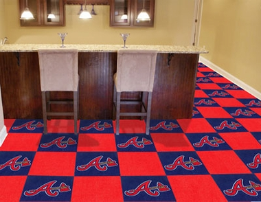 Atlanta Braves Carpet Tiles