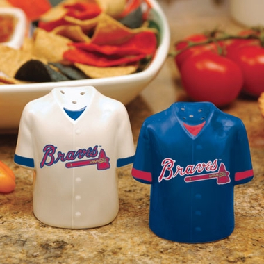 Atlanta Braves Ceramic Jersey Salt and Pepper Shakers