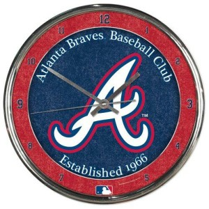 Atlanta Braves Round Chrome Wall Clock