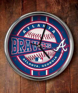 Atlanta Braves Chrome Clock
