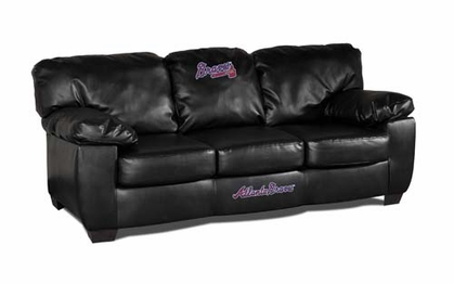 Atlanta Braves Leather Classic Sofa