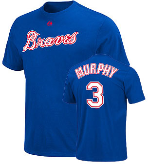 Atlanta Braves Dale Murphy Name and Number T-Shirt