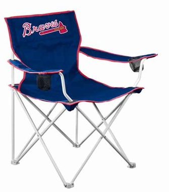 Atlanta Braves Deluxe Adult Folding Logo Chair