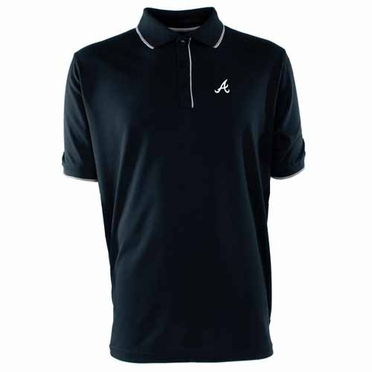 Atlanta Braves Mens Elite Polo Shirt (Team Color: Navy)