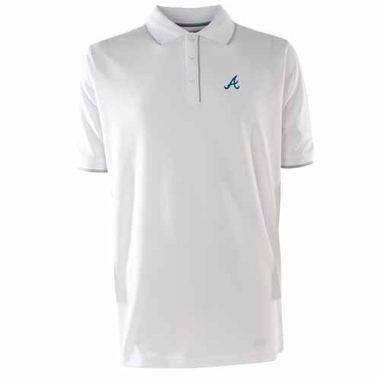 Atlanta Braves Mens Elite Polo Shirt (Color: White)