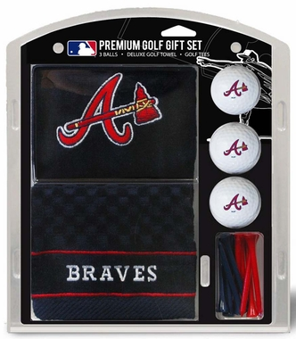 Atlanta Braves Embroidered Towel Golf Gift Set