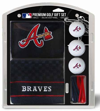 Atlanta Braves Embroidered Towel Gift Set