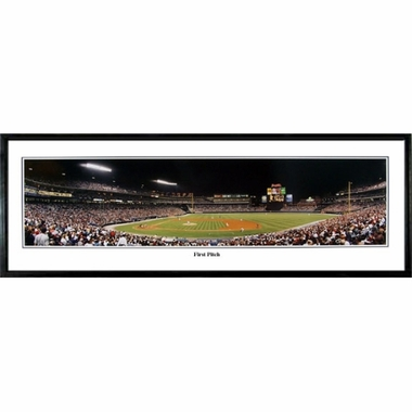 Atlanta Braves First Pitch Framed Panoramic Print