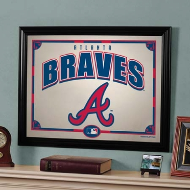 Atlanta Braves Framed Mirror