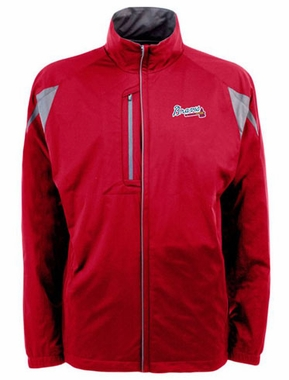 Atlanta Braves Mens Highland Water Resistant Jacket (Team Color: Red)
