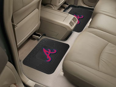 Atlanta Braves SET OF 2 Heavy Duty Vinyl Rear Car Mats