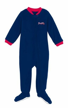 Atlanta Braves Infant Footed Sleeper Pajamas