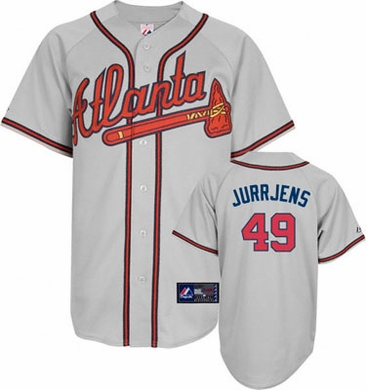 Atlanta Braves Jair Jurrjens Replica Player Jersey (Road)