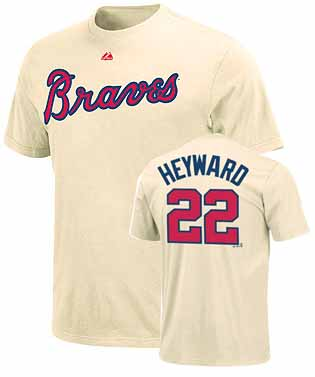 Atlanta Braves Jason Heyward Name and Number T-Shirt (Alternate)