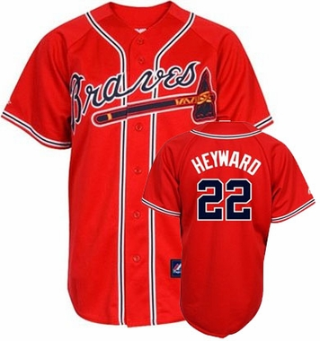 Atlanta Braves Jason Heyward Replica Player Jersey (Alternate Red)