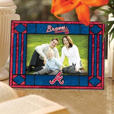 Atlanta Braves Landscape Art Glass Picture Frame