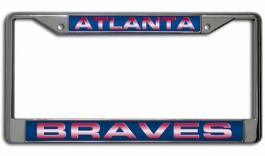 Atlanta Braves Laser Etched Chrome License Plate Frame