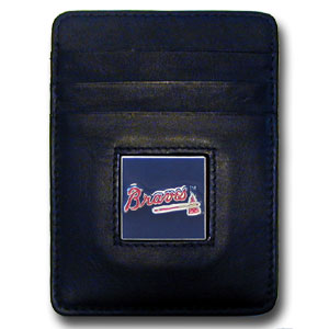 Atlanta Braves Leather Money Clip (F)