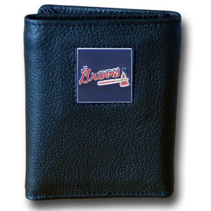 Atlanta Braves Leather Trifold Wallet (F)