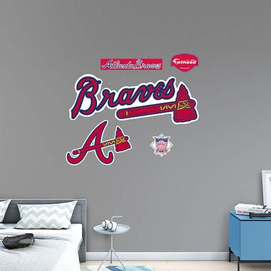 Atlanta Braves Logo Fathead Wall Graphic