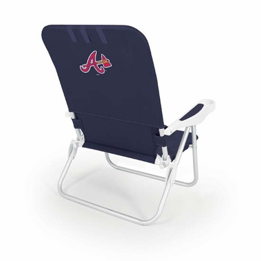 Atlanta Braves Monaco Beach Chair (Navy)