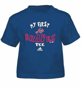 Atlanta Braves My First Tee Toddler Shirt - 4T