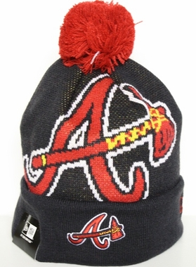 Atlanta Braves New Era Woven Biggie Cuffed Knit Hat