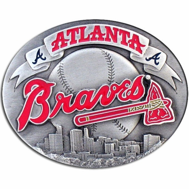 Atlanta Braves Enameled Belt Buckle
