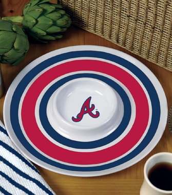 Atlanta Braves Plastic Chip and Dip Plate