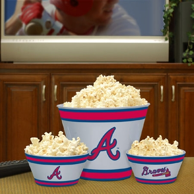Atlanta Braves Plastic Serving Set