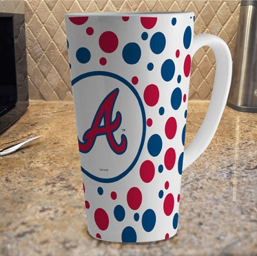 Atlanta Braves Polkadot 16 oz. Ceramic Latte Mug