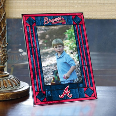Atlanta Braves Portrait Art Glass Picture Frame