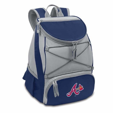 Atlanta Braves PTX Backpack Cooler (Navy)