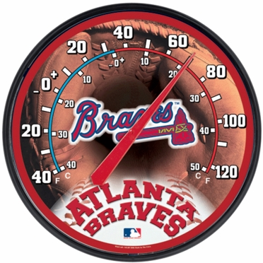 Atlanta Braves Round Wall Thermometer