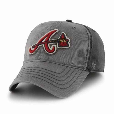 Atlanta Braves Saluki Stretch Fit Hat - Charcoal